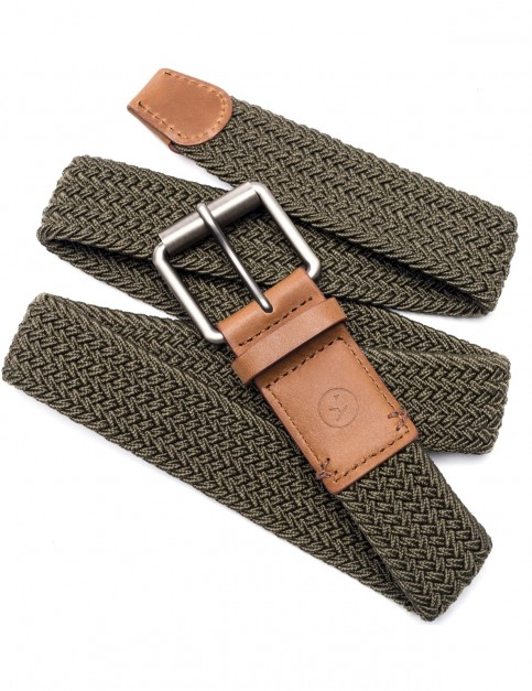 Arcade Hudson Webbing Belt in Olive Green