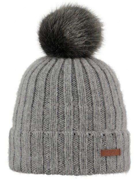 Barts Linda Bobble Hat in Dark Heather