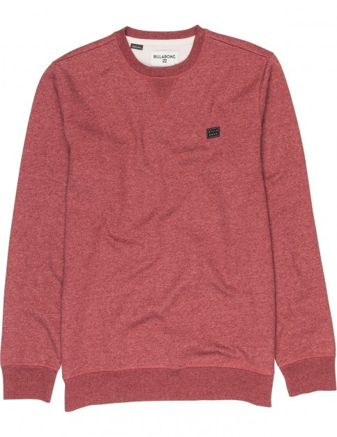 Billabong All Day Crew Sweatshirt in Fig Heather