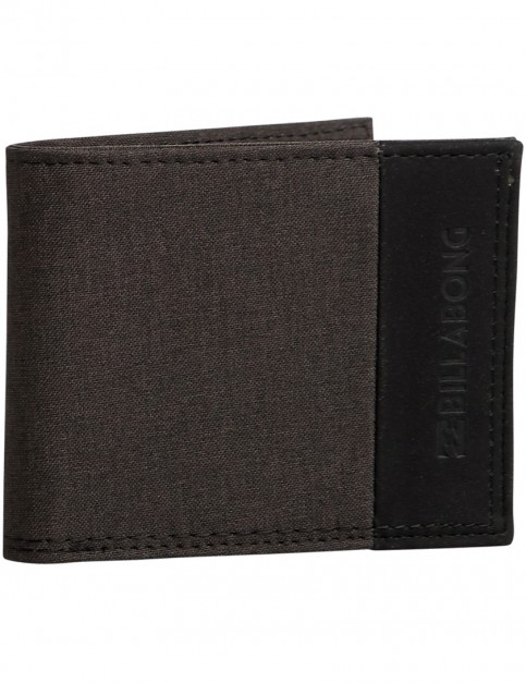 Billabong All Day Faux Leather Wallet in Black Heather