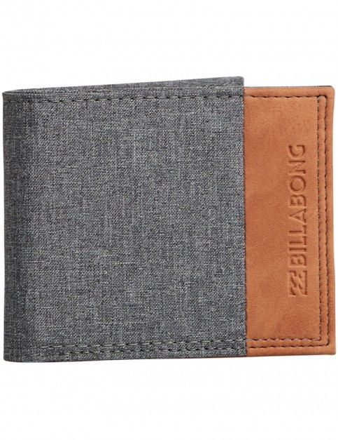 Billabong All Day Faux Leather Wallet in Dark Grey Heath