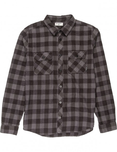 Billabong All Day Flannel Long Sleeve Shirt in Black