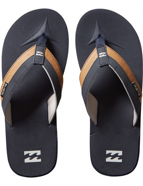 Billabong All Day Impact Flip Flops in Navy