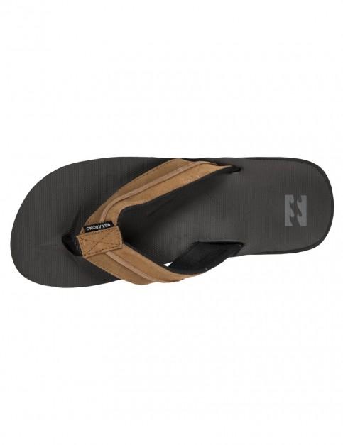 Black Tan Billabong All Day Impact Flip Flops