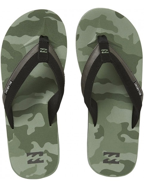 Billabong All Day Impact Print Canvas Sandals in Camo