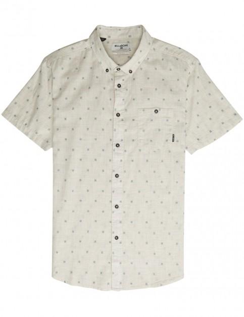 Billabong All Day Jacquard Short Sleeve Shirt in Stone Heather