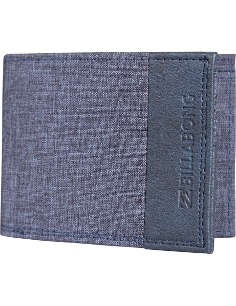 Billabong All day Leather Wallet in Dark Slate HTR