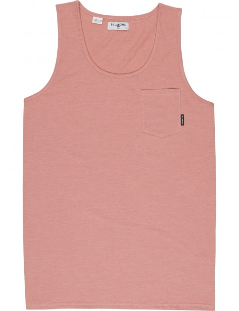 Billabong All Day Pocket Sleeveless T-Shirt in Ash Rose