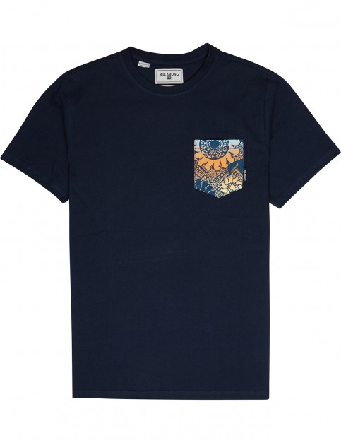 Billabong All Day Printed Short Sleeve T-Shirt in Navy