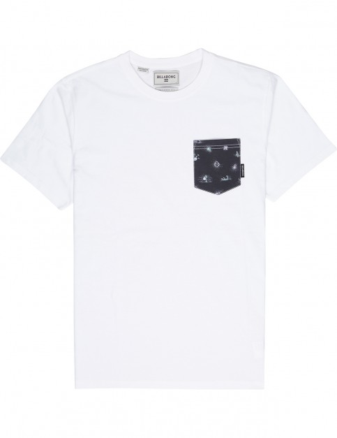 Billabong All Day Printed Short Sleeve T-Shirt in White