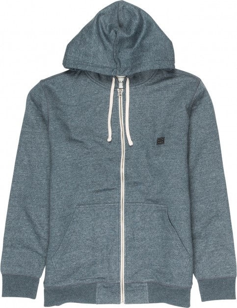 Billabong All Day Sherpa Hoody in Dark Slate Heather