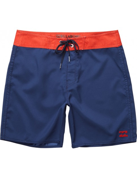 Billabong All Day Short Board Shorts in Navy/Red