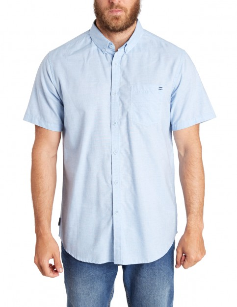 Billabong All Day Short Sleeve Shirt in Light Blue