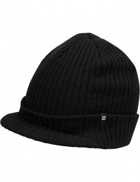 Billabong Arcade Brim Peaked Beanie in Black