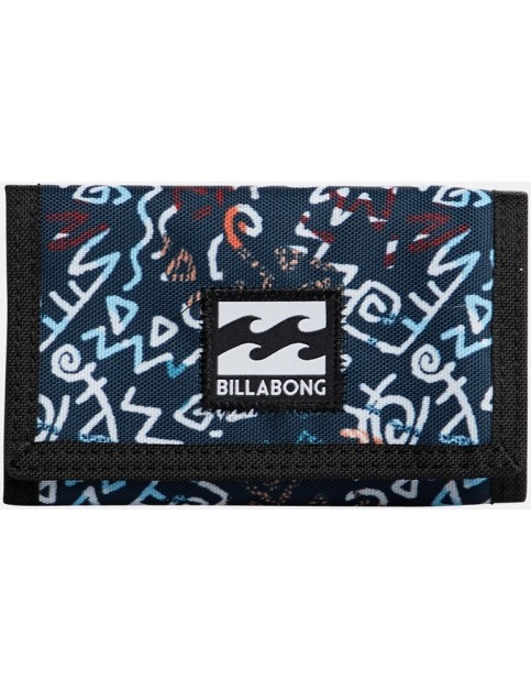 Billabong Atom Polyester Wallet in Navy Coral