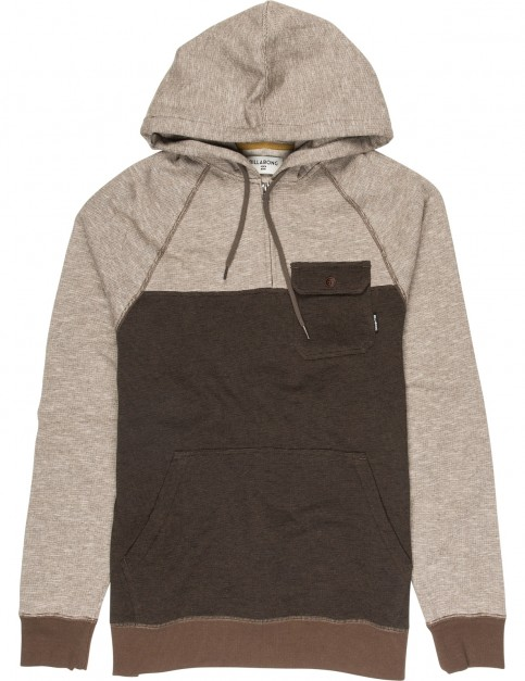 Billabong Balance Half Zip Pullover Hoody in Earth