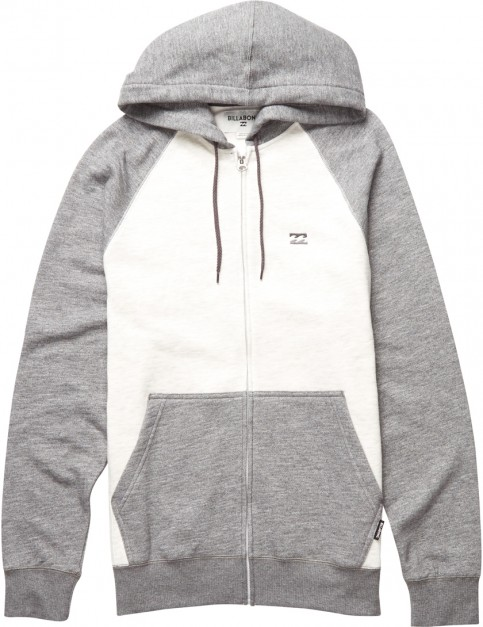 Billabong Balance Zipped Hoody in Grey Heather