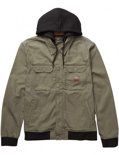 Billabong Banger Canvas Jacket in Military