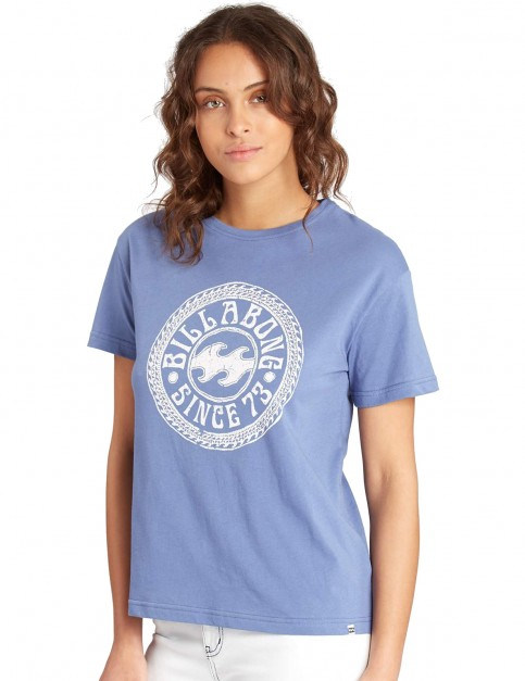 Billabong Basic Short Sleeve T-Shirt in Blue Jay