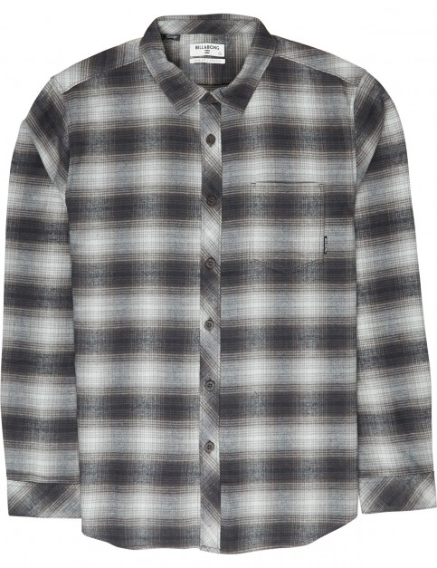 Billabong Coastline Flannel Long Sleeve Shirt in Black