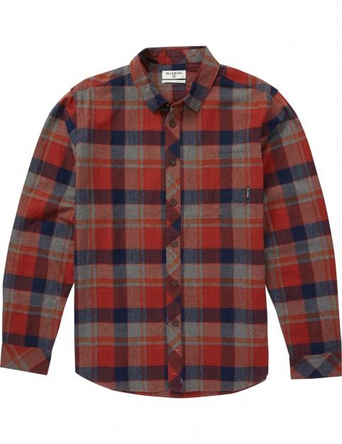 Billabong Coastline Flannel Long Sleeve Shirt in Navy