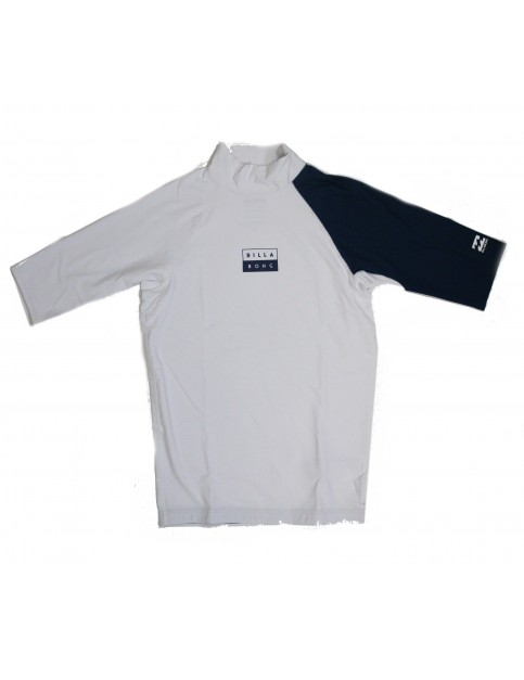 Billabong Contrast Short Sleeve Rash Vest in White