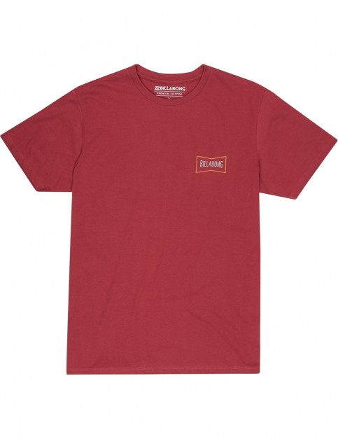 Billabong Craftman Short Sleeve T-Shirt in Brick