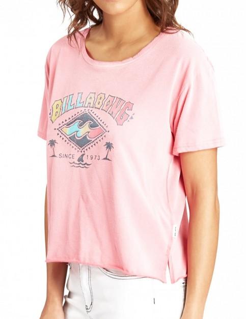 Billabong Crop Short Sleeve T-Shirt in Coral Shine