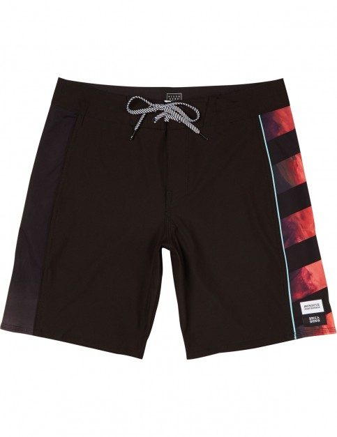 Billabong D'Bah x Asymetric Mid Length Boardshorts in Black