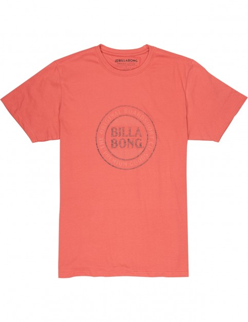 Billabong Danapoint Short Sleeve T-Shirt in Washed Red