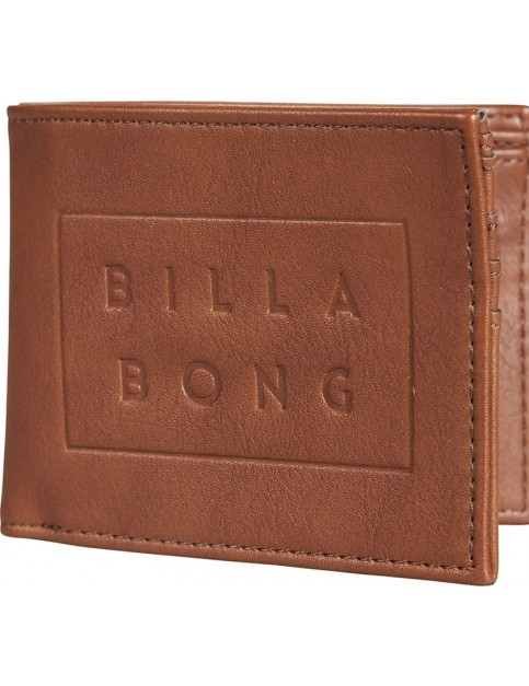Billabong Die Cut Faux Leather Wallet in Tan
