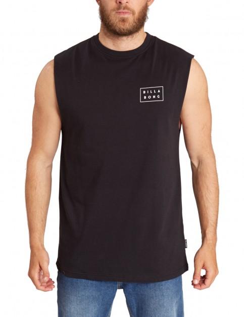 Billabong Die Cut Muscle Sleeveless T-Shirt in Black