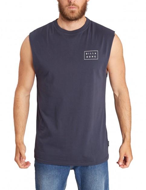 Billabong Die Cut Muscle Sleeveless T-Shirt in Navy