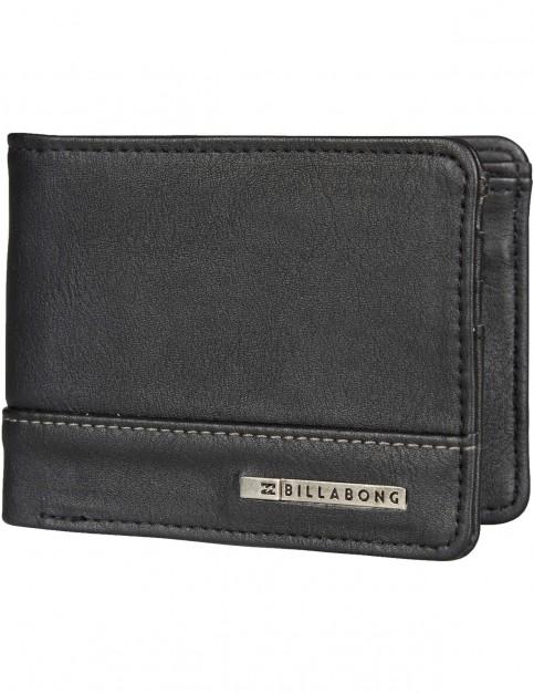 Billabong Dimension Faux Leather Wallet in Black