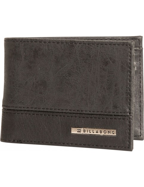 Billabong Dimension Faux Leather Wallet in Black