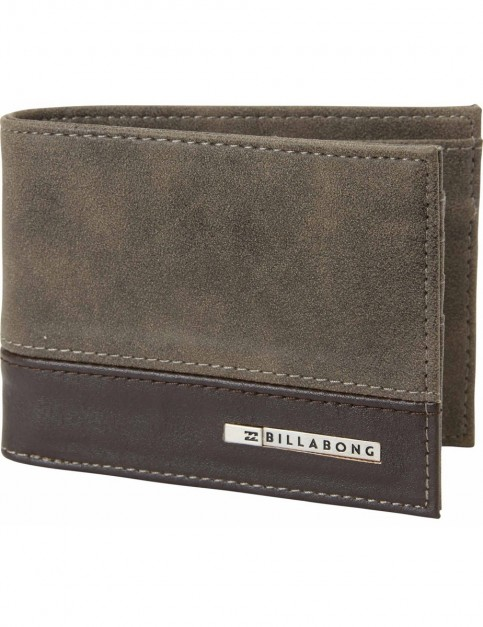 Billabong Dimension Faux Leather Wallet in Brown