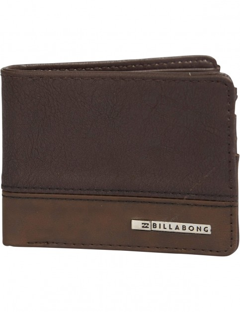 Billabong Dimension Faux Leather Wallet in Chocolate