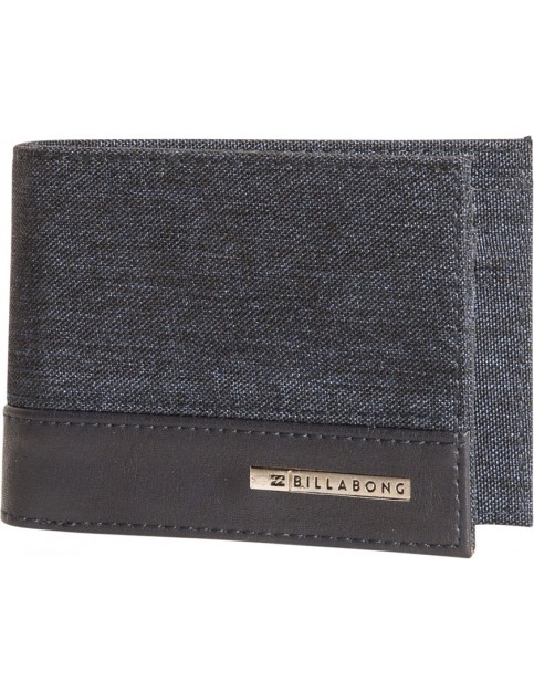 Billabong Dimension Faux Leather Wallet in Navy Heather