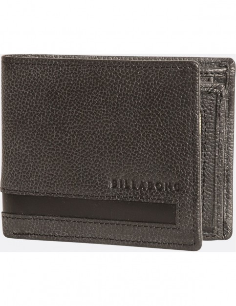 Billabong Empire Snap Leather Wallet in Charcoal