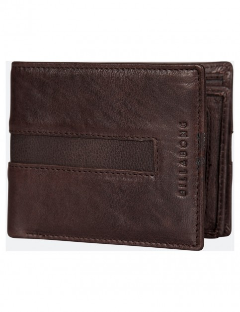 Chocolate Billabong Empire Snap Leather Wallet
