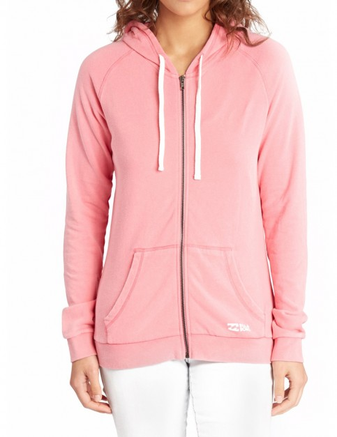 Billabong Essential Zipped Hoody in Coral Shine