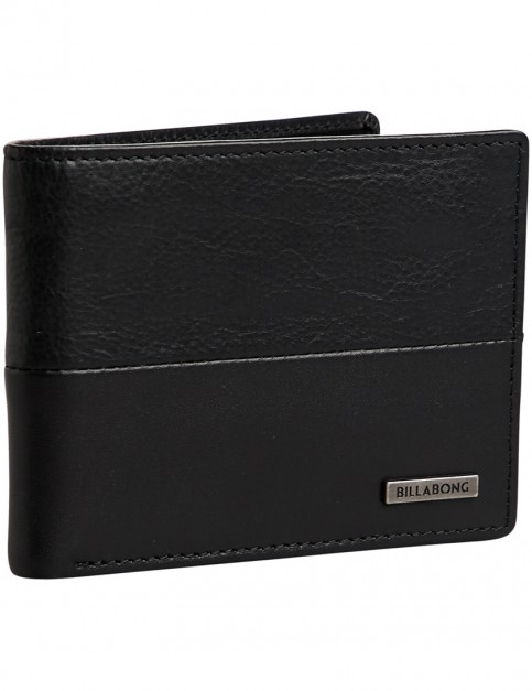 Billabong Fifty 50 ID Leather Wallet in Black