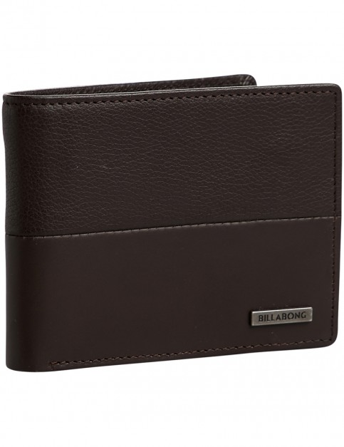 Billabong Fifty50 ID Leather Wallet in Chocolate