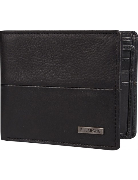 Billabong Fifty50 Leather Wallet in Black