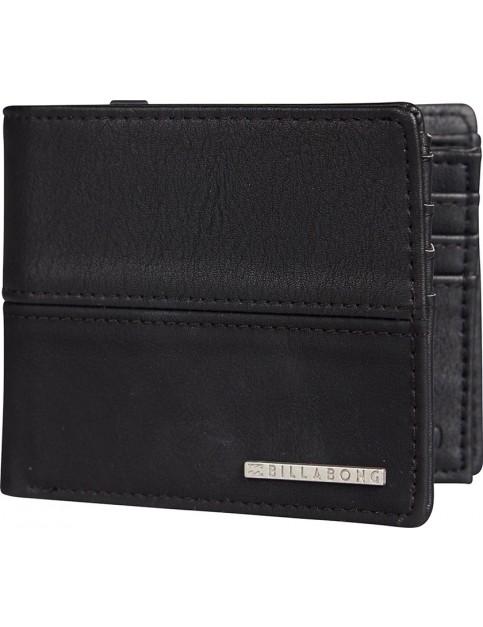 Billabong Fifty50 Faux Leather Wallet in Black
