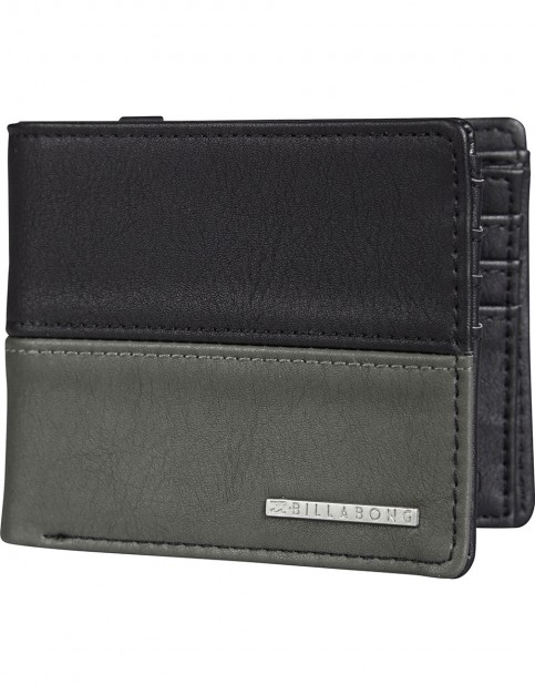 Billabong Fifty50 Faux Leather Wallet in Char