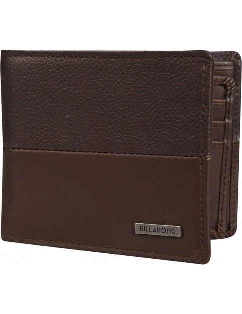 Billabong Fifty50 Leather Wallet in Chocolate