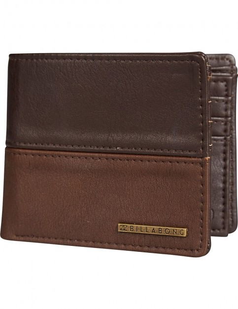 Billabong Fifty50 Faux Leather Wallet in Chocolate