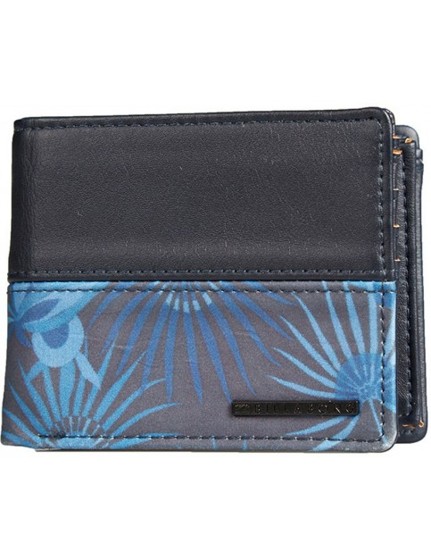 Billabong Fifty50 Leather Wallet in Navy