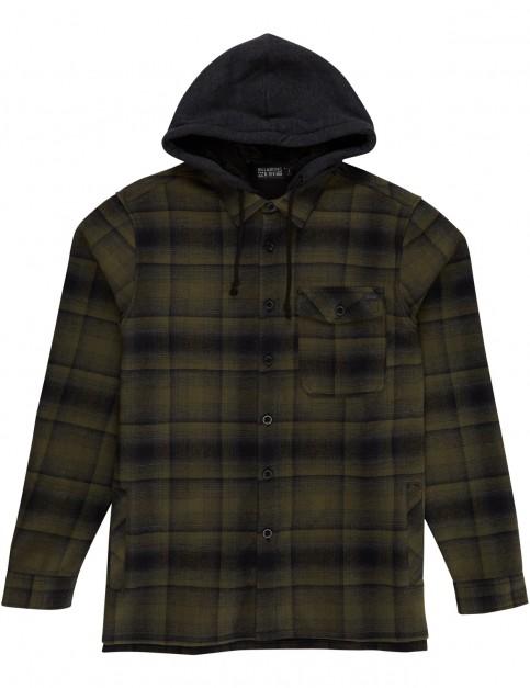 Billabong Furnace Bonded Flannel Long Sleeve Shirt in Green